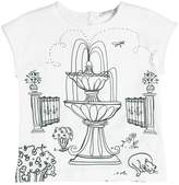 Dolce & Gabbana Garden Printed Cotton Jersey T-Shirt