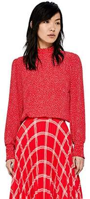 find. Women's High Neck Spotted Blouse,(Manufacturer size: XXX-Large)