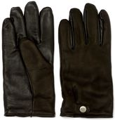 UGG Smart Snap Black Leather Gloves