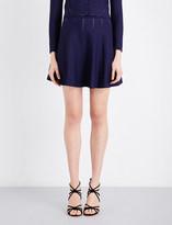 Sandro Open-knit jacquard mini skirt