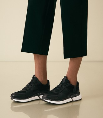Reiss Ethan - Leather Trainers in Black