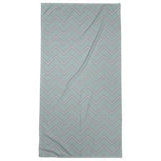 ArtVerse Rhonda Cheval Gray Color Accent Hand Drawn Chevrons Beach Towel - Poly/Cotton