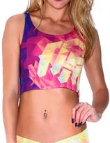 INTO THE AM Shattered All Over Print Rave Crop Top (Medium/Large)