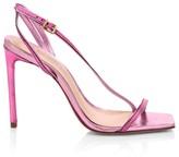 Schutz Luna Slingback Metallic Leather Sandals