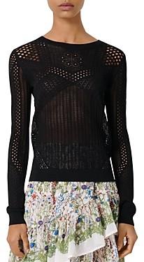 Maje Maelys Open-Knitwork Sweater