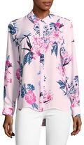 Cece Floral Button Shirt
