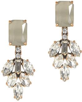 J.Crew Crystal leaves earrings