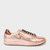 Paul Smith Women's Embossed Metallic Copper Leather 'Lapin' Trainers