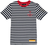 Diesel Taifa Striped T-Shirt with Red Collar