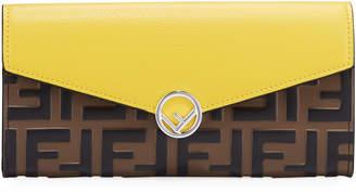 Fendi FF Logo Leather Envelope Wallet, Maya Wallet