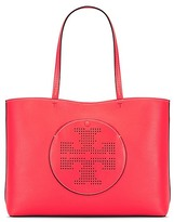 Tory Burch Perforated-Logo Tote