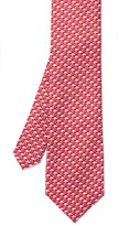J.Mclaughlin Italian Silk Tie in Flamingo