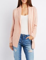 Charlotte Russe Textured Shawl Collar Cardigan