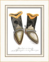 The Well Appointed House Cowboy Boots Framed Wall Art for Kids