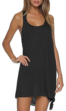 Becca by Rebecca Virtue Breezy Basics Twist Back Dress Swim Cover-Up