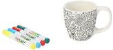 Dexam Just Add Colour Nature In Colour Small Mug, White/Black, 350ml
