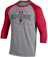 Under Armour Men's Texas Tech Red Raiders Triblend Baseball Tee