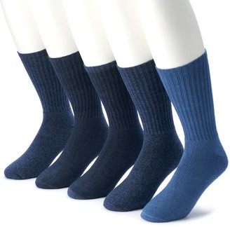 Croft & Barrow Men's 5-pack Opticool Solid Crew Socks