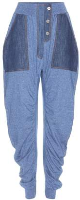 Stella McCartney High-rise cotton trousers