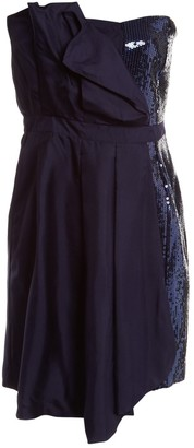 Moschino Love Navy Silk Dress for Women