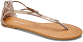Wet Seal Taupe Metallic-Accent Sandal