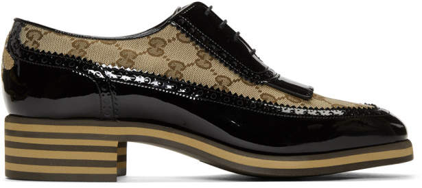 Gucci Black GG Thomson Brogues