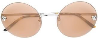 Cartier Panthere de round-frame sunglasses