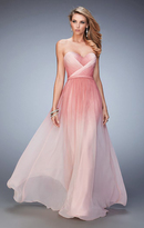 La Femme 22156 Strapless Sweetheart Ombre Gown