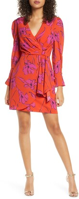 Harlyn Floral Sketch Long Sleeve Dress