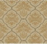 York Wall Coverings York Wallcoverings 60.75 sq. ft. Gold Leaf Framed Damask Wallpaper