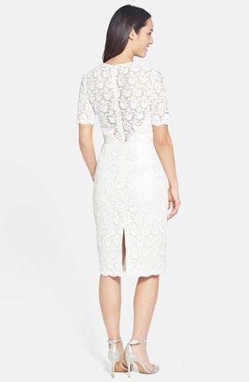 Jill Stuart Jill Illusion Lace Sheath Dress