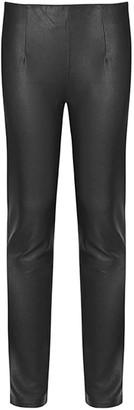 Baukjen Lauren Leather Leggings In Caviar Black