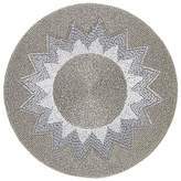 John Lewis Explosion Round Glass Bead Placemat, Silver