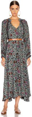 Natalie Martin Fiore Maxi Dress in Wildflower Slate | FWRD