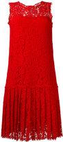 Ermanno Scervino pleated lace dress - women - Silk/Cotton/Polyamide/Viscose - 46