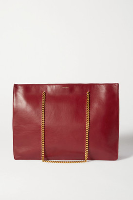 Saint Laurent Medium Leather Tote - Red