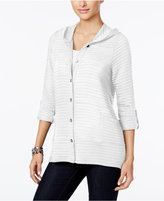 Style&Co. Style & Co Style & Co Petite Hooded Knit Jacket, Created for Macy's