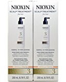 Nioxin Scalp Treatment System 3 for Normal to Thin Hair 200 Ml / 6.76 Fl Oz (Set of 2))