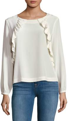 Leo & Sage Ruffled Silk Blouse