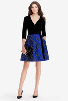 Diane von Furstenberg Jewel Silk and Wool Wrap Dress