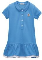 Moncler Girl's Drop Waist Polo Dress