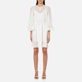 McQ by Alexander McQueen Women's Volume Sleeve Dress with Slip Ivory