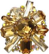 Krustallos Swarovski Crystal Brooch with Muti Shape Stone Patterns