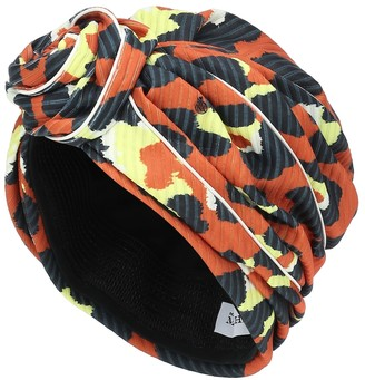 Maison Michel Hiromi leopard-print turban