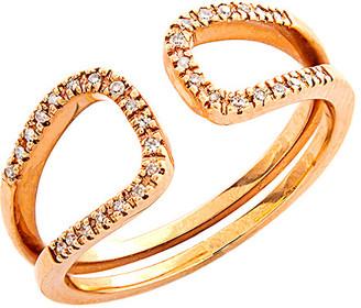 Diamond Select Cuts 14K Rose Gold 0.10 Ct. Tw. Diamond Ring