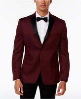 Alfani Men's Slim-Fit Burgundy Micro-Grid Dinner Jacket, Created for Macy's