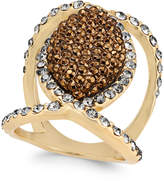 INC International Concepts Gold-Tone Mixed-Crystal Statement Ring, Only at Macy's