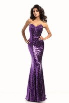 Johnathan Kayne 461 Sequined Strapless Mermaid Gown