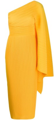 SOLACE London Lila pleated asymmetric dress
