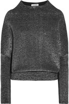 Jil Sander Metallic Wool-blend Sweater - Silver